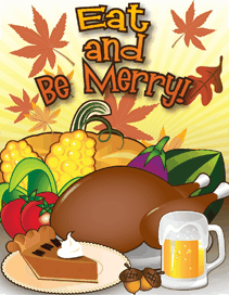Eat Thanksgiving Meal Beer Invitation Small