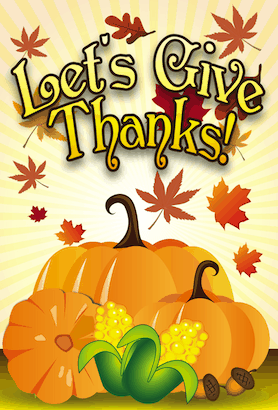 Give Thanks Pumpkins Invitation