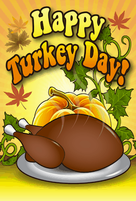 Happy Thanksgiving Turkey Day Card