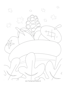 Thanksgiving Acorns Coloring Page