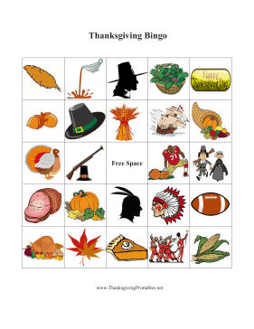 Thanksgiving Bingo 5
