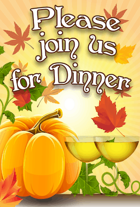 Thanksgiving Join Us Invitation