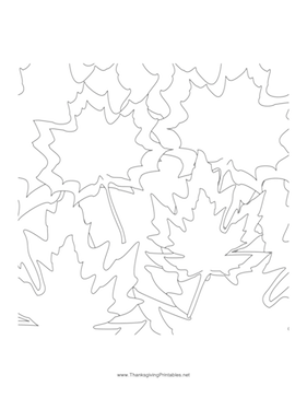 Thanksgiving Leaves2 Coloring Page