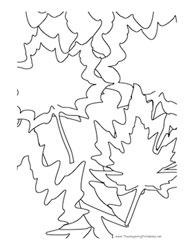 Thanksgiving Leaves Coloring Page
