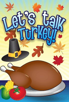 Thanksgiving Talk Turkey Invitation