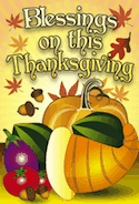 Blessings Thanksgiving Food Card