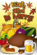 Eat Thanksgiving Meal Beer Invitation