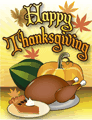 Happy Thanksgiving Meal Card Small