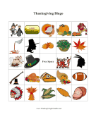 Thanksgiving Bingo 3 Thanksgiving Printables
