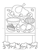 Dinner Coloring Page