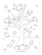 Leaves Falling Coloring Page