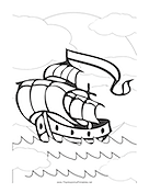 Mayflower2 Coloring Page