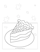 Slice Pie Coloring Page