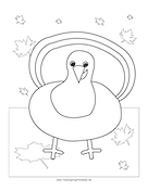 Turkey Coloring Page